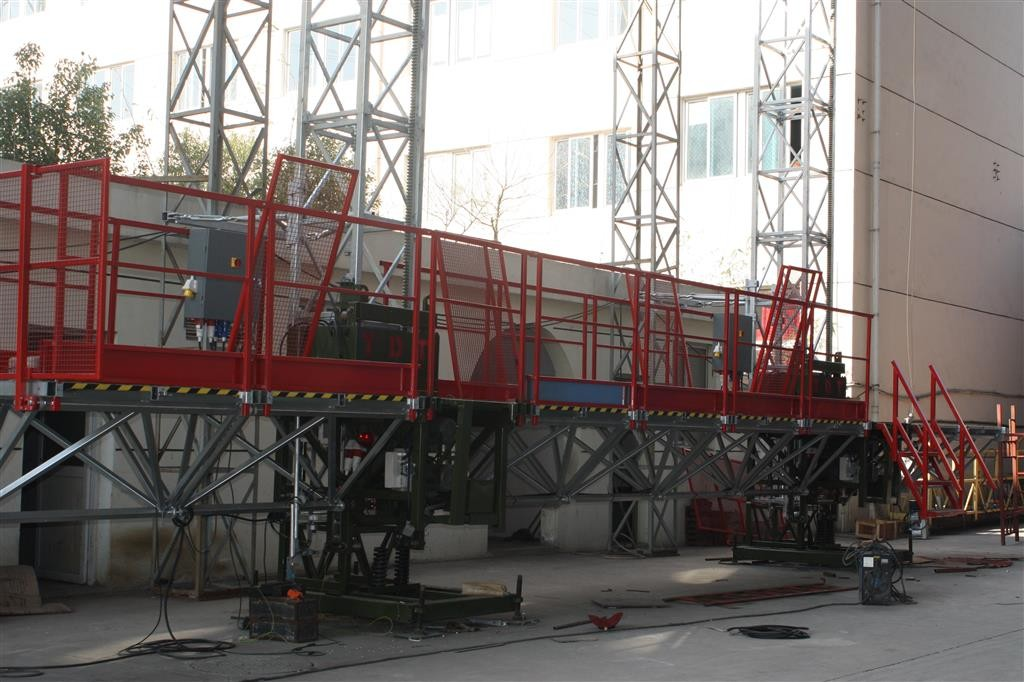 Adjust Customer Industrial Elevators 25m length Aluminum platform