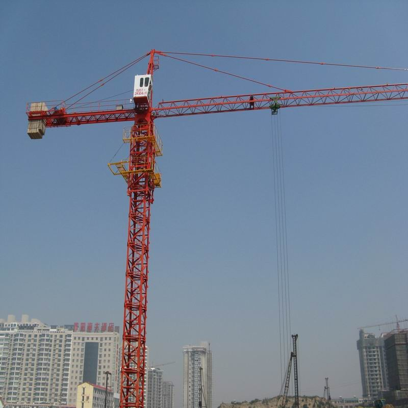 tower Crane with 151.2m Max Height, Free stranding 48m, 8 Tons Tower Crane QTZ680(5613)